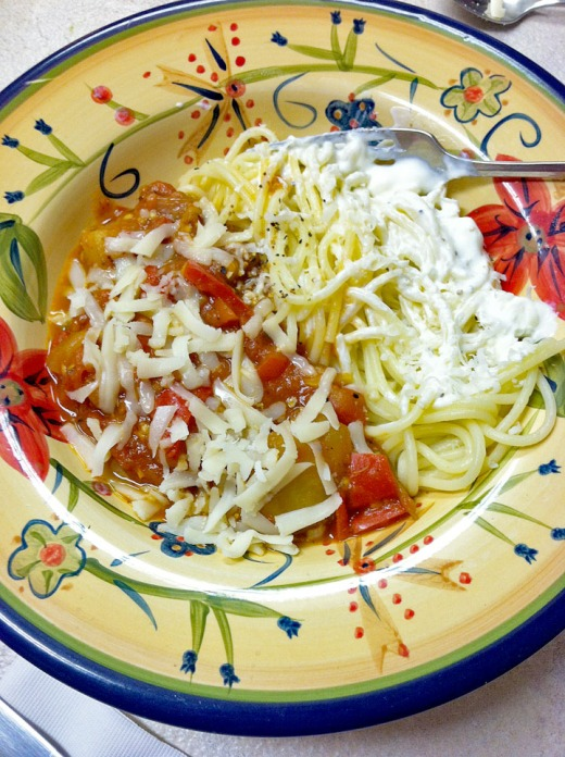 eggplant with spaghetti.blog